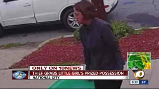 Girl 'heartbroken' after thief steals sandbox