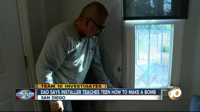 Dad says installer taught his teen how to make a bomb