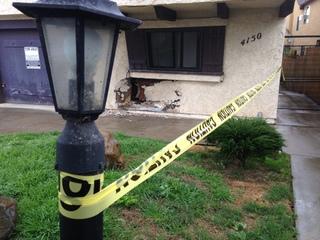 Car hits apartment complex in North Park