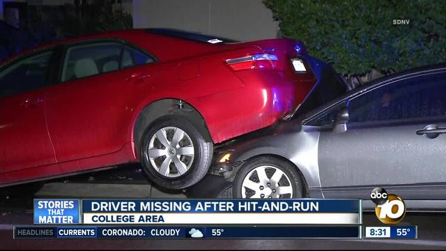 Driver flees after College Area hit-and-run