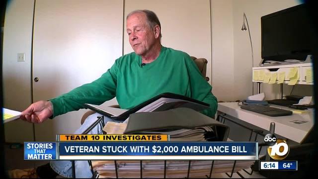 Veteran stuck with -2-000 ambulance bill