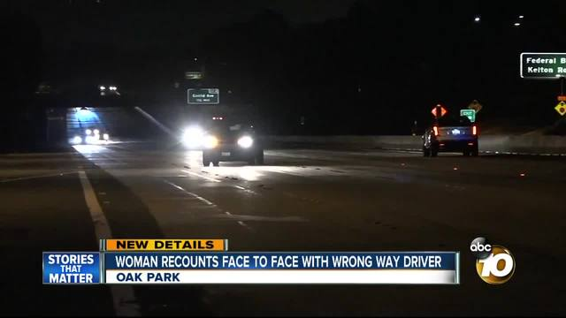 Woman recounts face-to-face with wrong-way driver