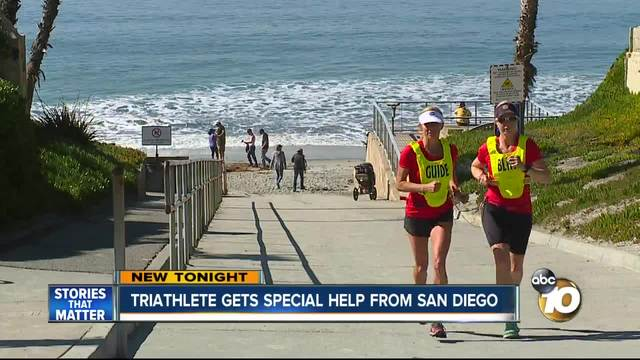 Paratriathlete gets special help from San Diego