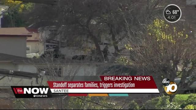 Santee standoff separates families- triggers investigation