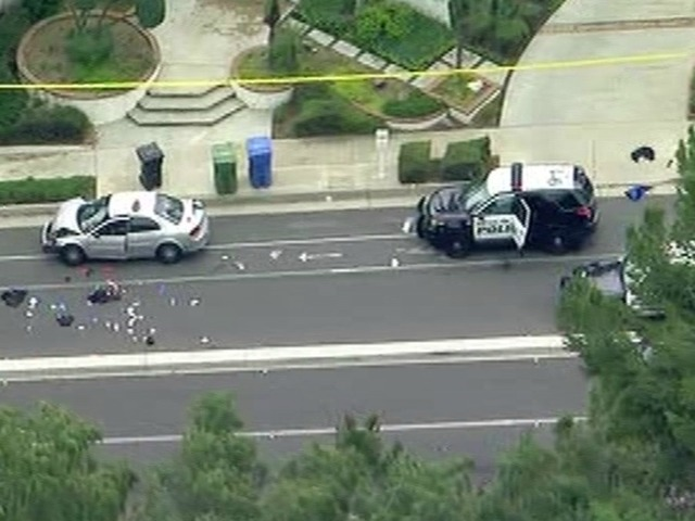 2 officers shot, 1 killed, after responding to traffic accident in California
