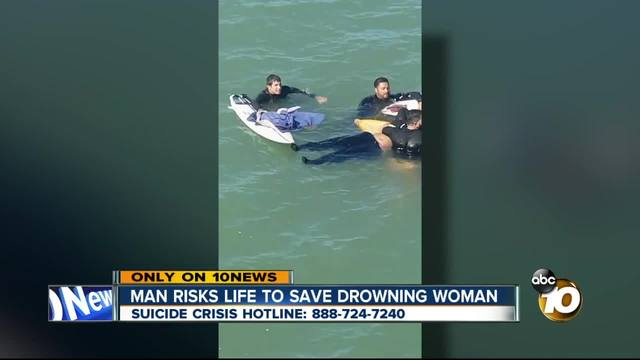 Man risks life to save drowning woman