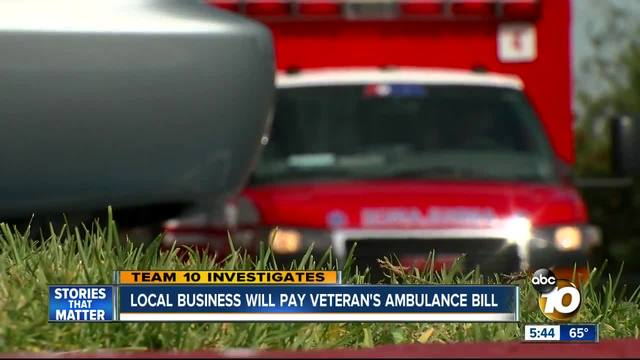 Local business will pay veteran-s ambulance bill