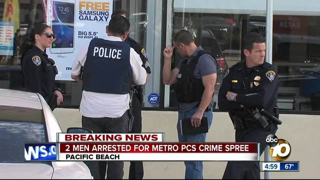 2 men arrested for MetroPCS crime spree