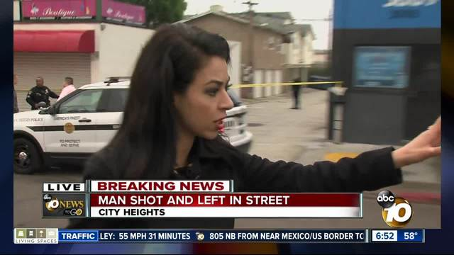Man shot in neck found in City Heights alley