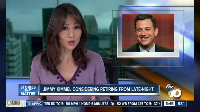 Jimmy Kimmel is considering retirement from late-night tv