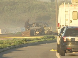 Body found inside burned-out car in Lakeside