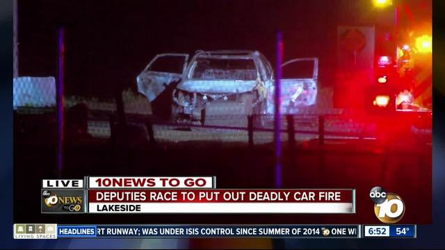Questions remain over deadly car fire in Lakeside