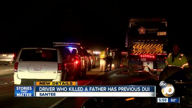 Driver who killed a father has previous DUI