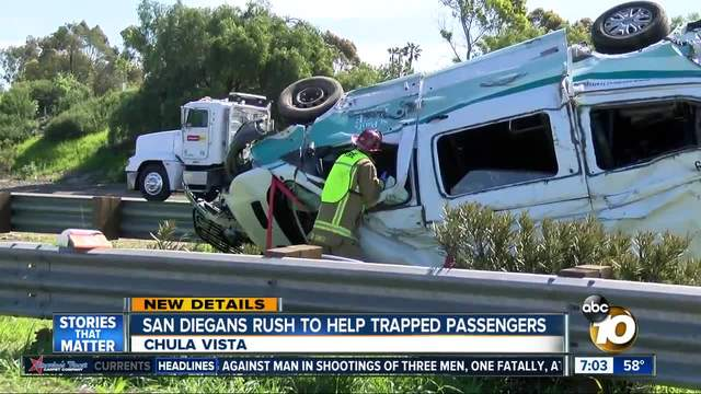 San Diegans rush to help trapped passengers