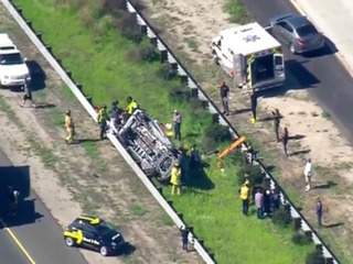 Five injured in rollover crash on SR-54