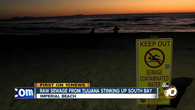 Raw sewage from Tijuana stinking up South Bay