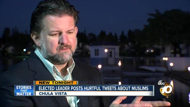 Elected leader posts hurtful tweets about Muslims
