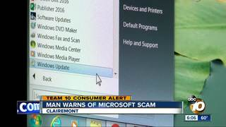 San Diego man warns of Microsoft scam