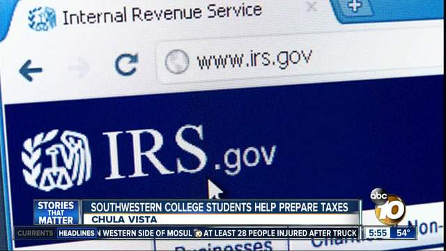 Southwestern College students help prepare taxes