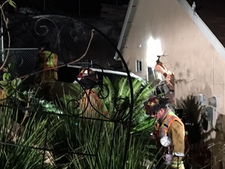 SUV smashes into Poway home office after chase