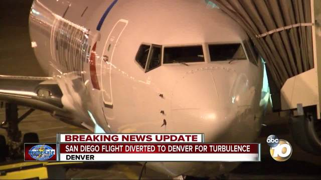 San Diego flight diverted to Denver for turbulence