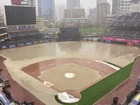 Petco Park flooded due to heavy rain