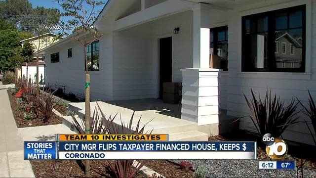 Coronado City Manager Flips House Financed By Taxpayers