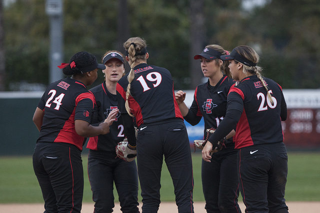SDSU softball drops series to open conference