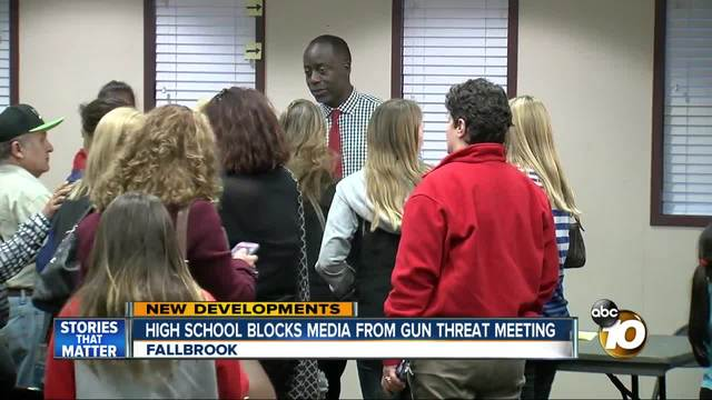 Fallbrook High School blocks media from gun threat meeting