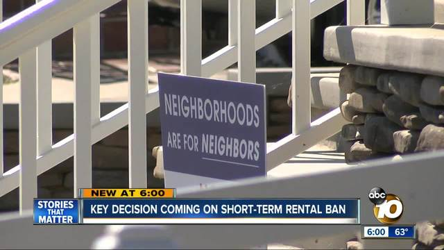 Key decision coming on short-term rental ban