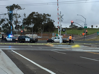 Police at fatal trolley collision in San Ysidro