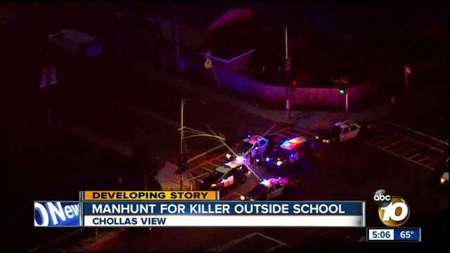 Manhunt for killer in Chollas View