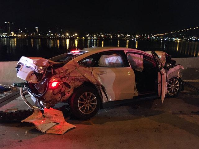 Wrong-way crash snarls Coronado Bridge traffic