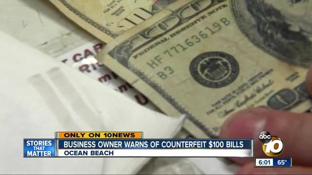Business owner warns of ounterfeit -100 bills