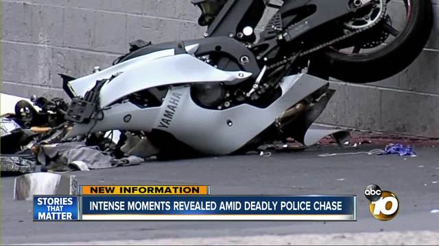 Police chase ends in fatal motorcycle crash in National City