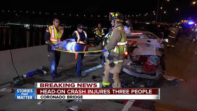 Wrong-way driver crashes on Coronado Bridge- prompts lane closures