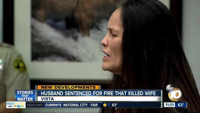 Husband sentenced for fire that killed wife