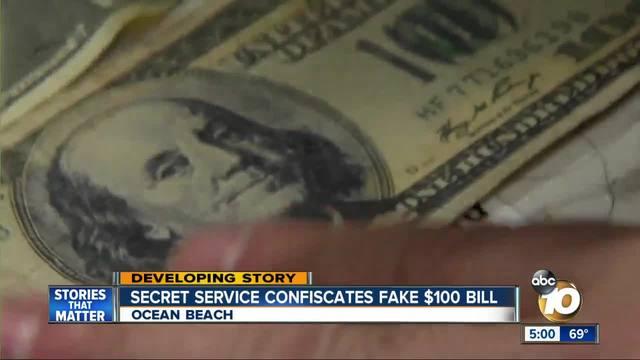 Secret Service confiscates fake -100 bill