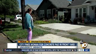 Woman fined $500 for concrete pad in front yard