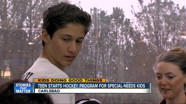 Teen starts hockey program for special needs kids