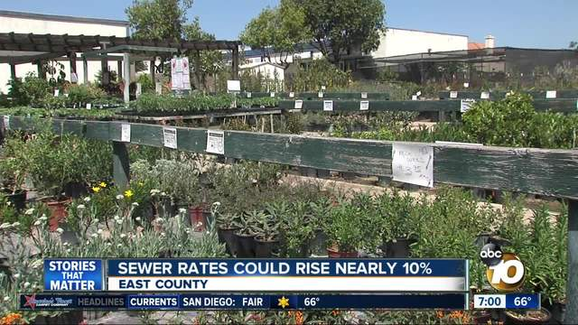 Sewer Rates On The Rise In East County 10news Com Kgtv