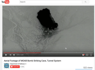DoD posts aerial footage of MOAB hit