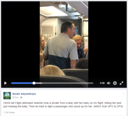 Video: Mom in tears on American Airlines flight