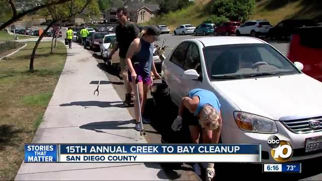 15th annual Creek to Bay Cleanup