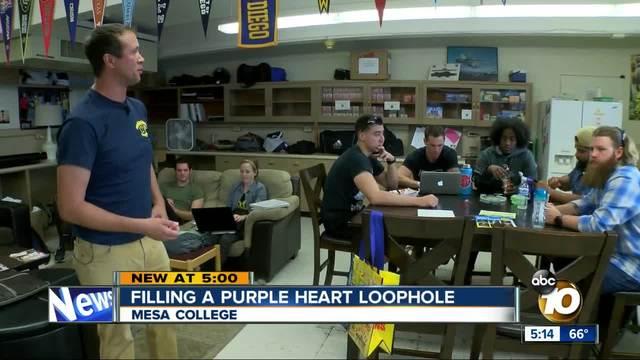 Filling a Purple Heart loophole