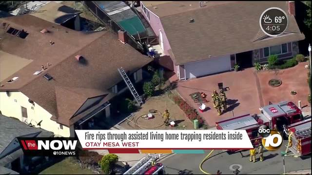 Fire rips through assisted living home trapping residents inside