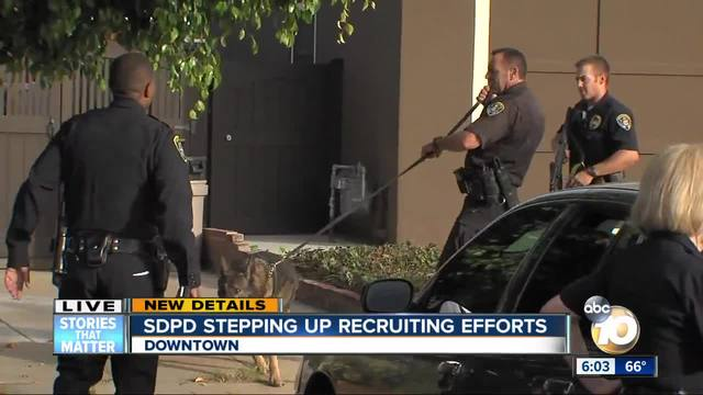 SDPD stepping up recruiting efforts