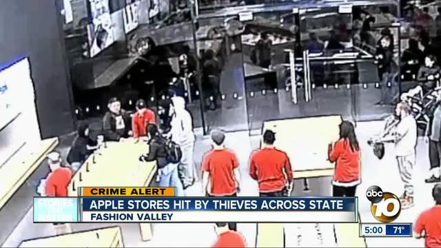 Apple stores hit by thieves across state