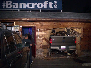 Man crashes into bar moments after leaving it