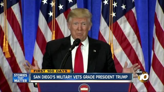 San Diego-s military vets grade President Trump